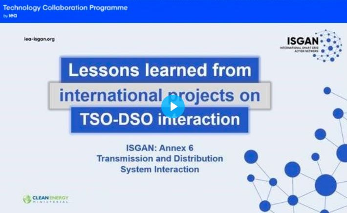 "INTERPLAN contributed to ISGAN report on ""Lessons learned from international projects on TSO-DSO interaction""."